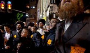 I simboli dell'olocausto per protestare contro altri ebrei