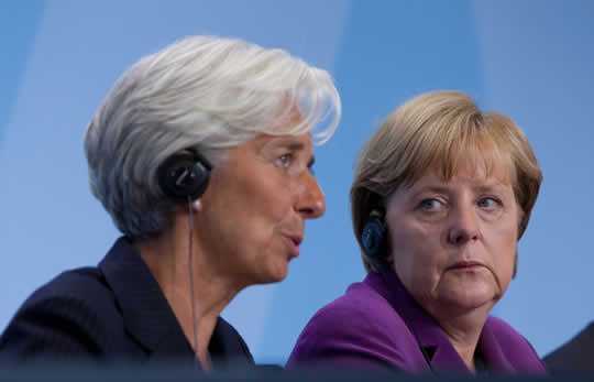 Christine Lagarde e Angela Merkel