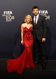 Shakira e Piquè al Gala del Pallone d'oro
