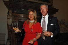 Emma Marcegaglia con Legion d'Onore e il marito Roberto Vancini