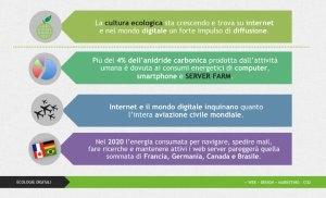 Inquinamento prodotto da internet e il mondo digitale.