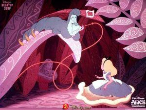 Alice nel paese delle meraviglie e il Brucaliffo