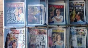 Tabloids on Murray