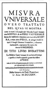 Il testo di Tito Livio Burattini
