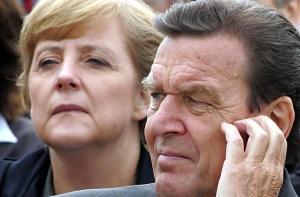 Angela Merkel, Gerhard Schroeder