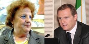 Anna Maria Cancellieri e il figlio Piergiorgio Peluso