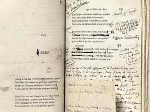 Baudelaire I fiori del male prima edizione con autografo e dedica.
