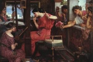 John William Waterhouse - Penelope e i pretendenti (Penelope and the Suitors, 1912)