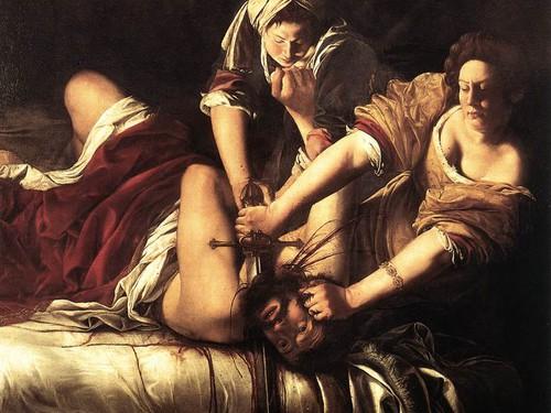 Giuditta che decapita Oloferne nella versione di Artemisia Gentileschi.