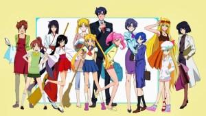 Tutta la balotta di Sailor Moon al gran completo