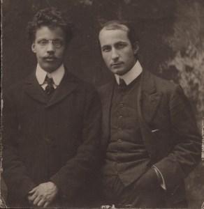 Giovanni Papini e Ardengo Soffici, fondatori della rivista fiorentina Lacerba.