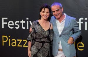 Juliette Binoche e Olivier Sssayaz a Locarno