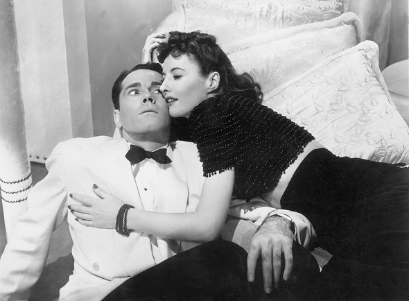 "Henry Fonda e barbara Stanwick in ""The Lady Eve"" di Preston Sturges"