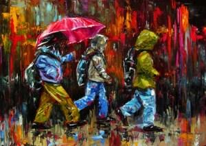 children_in_rain_painting_umbrella_art_figurative__figurative__figurative__126a701e33339be66c01c790ddcd1c11