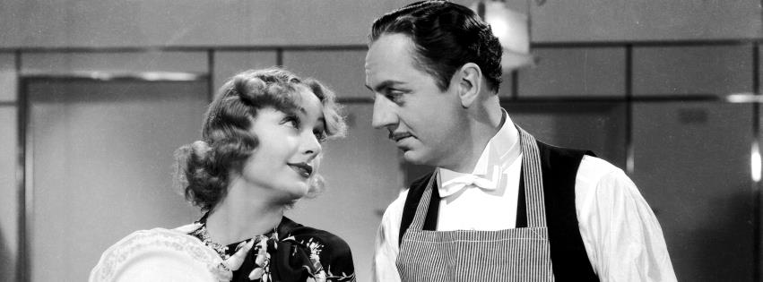 "Carole Lombard e William Powell in ""My man Godfrey - L'impareggiabile Godgrey"" di Gregory La Cava"