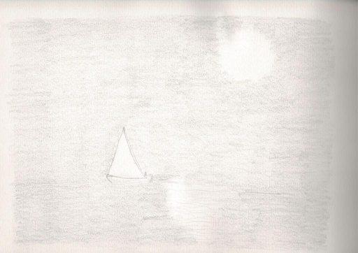 Sailboat in full moon