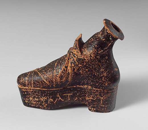 Vaso da profumo a forma di scarpa, Metropolitan museum, New York