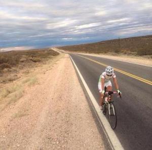 Paola Gianotti in Cile, dopo aver già percorso oltre 4500 km