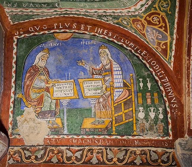 Ippocrate e Galeno. Cripta della cattedrale di Anagni