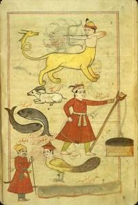 Muḥammad ibn Mūsá al-Damīrī, costellazioni dello zodiaco