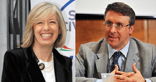Il Ministro Stefania Giannini ed il Presidente dell'Autorità nazionale anticorruzione Raffaele Cantone.