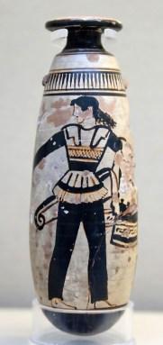 Vaso da unguenti greco con amazzone
