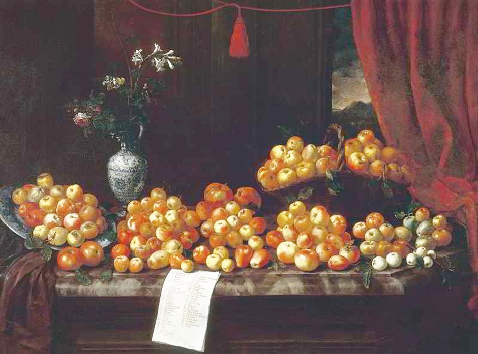 Bartolomeo Bimbi, natura morta con mele