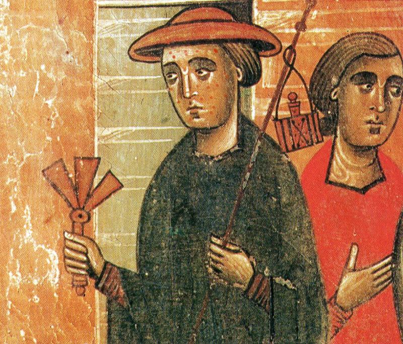 Bonaventura Berlinghieri, un lebbroso. Pala di San Francesco, Pescia