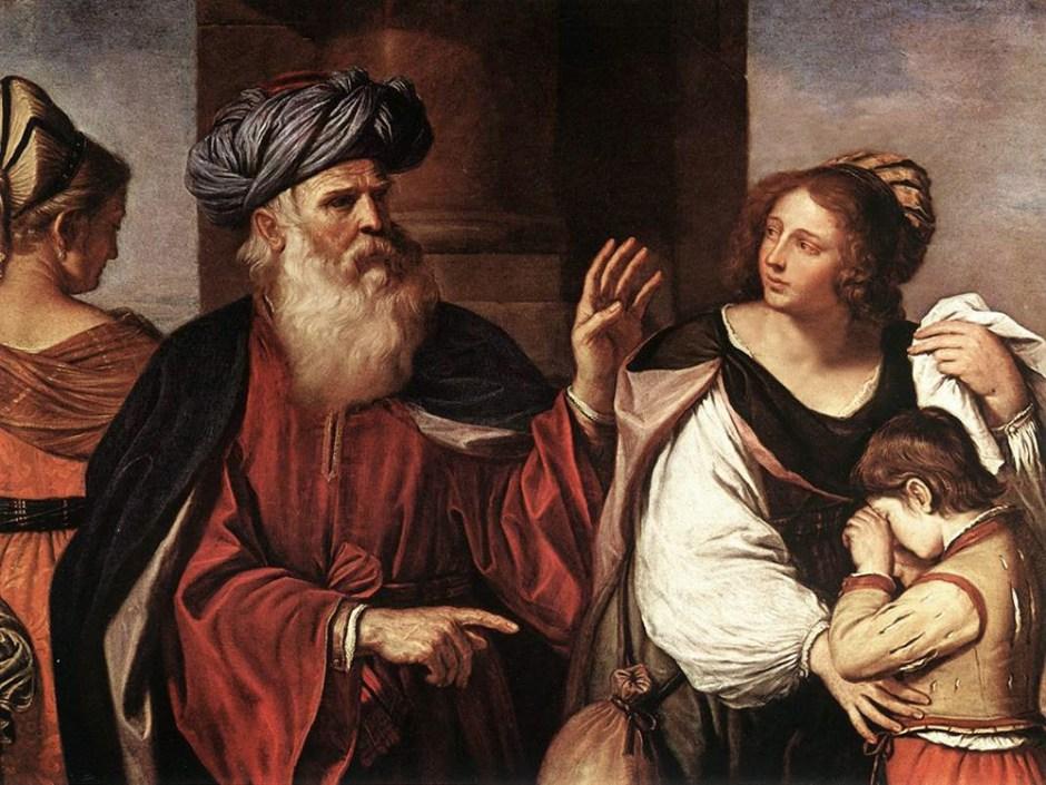 Guercino, Abramo ripudia Agar