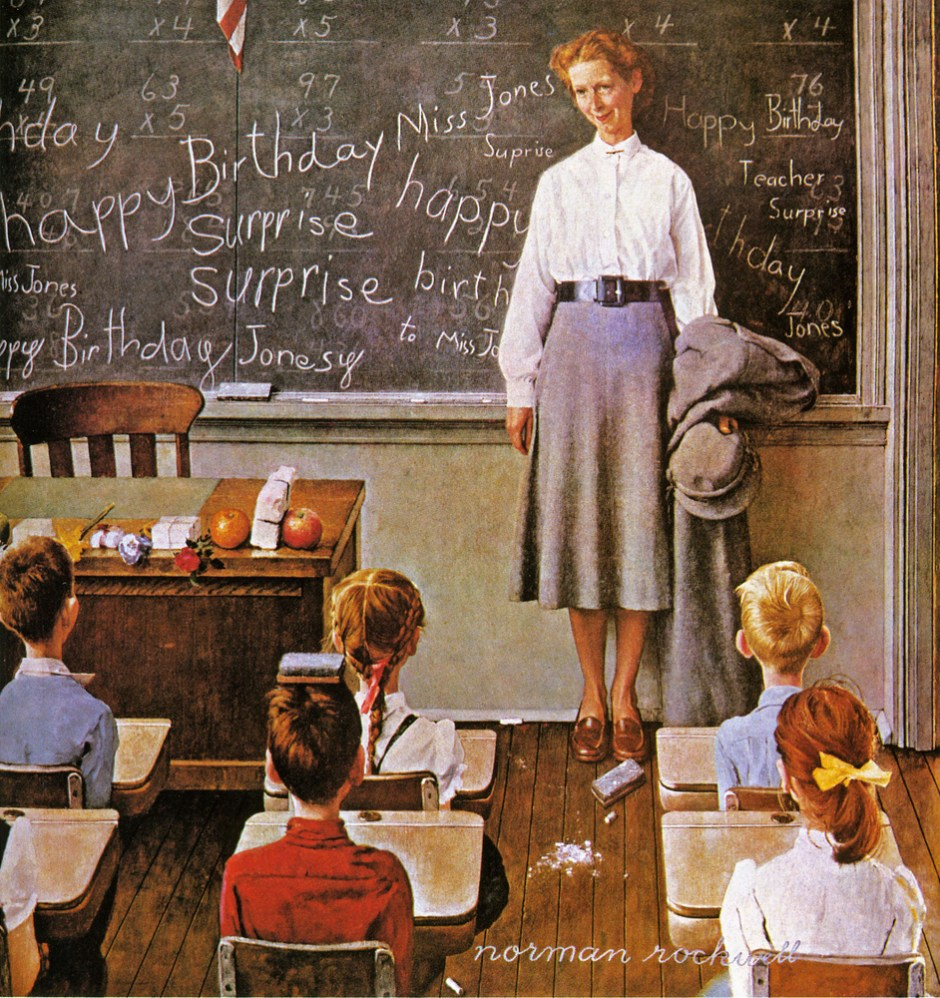 Norman Rockwell, Happy Birthday Miss Jones