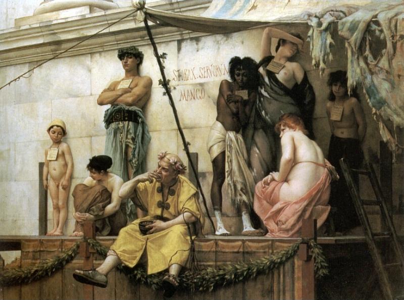 Gustave Boulanger. Il mercato degli schiavi
