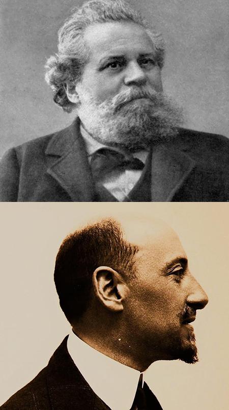 Giosuè Carducci e Gabriele D'Annunzio