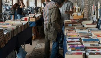 Bancarelle di libri usati a Padova.