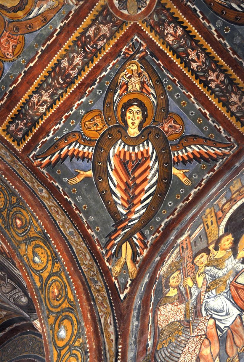 Il Tetramorfo nella visione di Ezechiele. Cattedrale di Anagni.