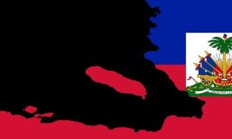 flag map of haiti country