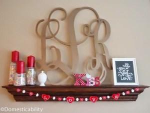 DIY Love Heart Embroidery Valentine's Garland