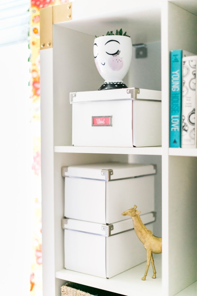 Ikea Kallax Shelf Styling Craft Room Storage Solutions Using Bins to Minimize Visual Clutter