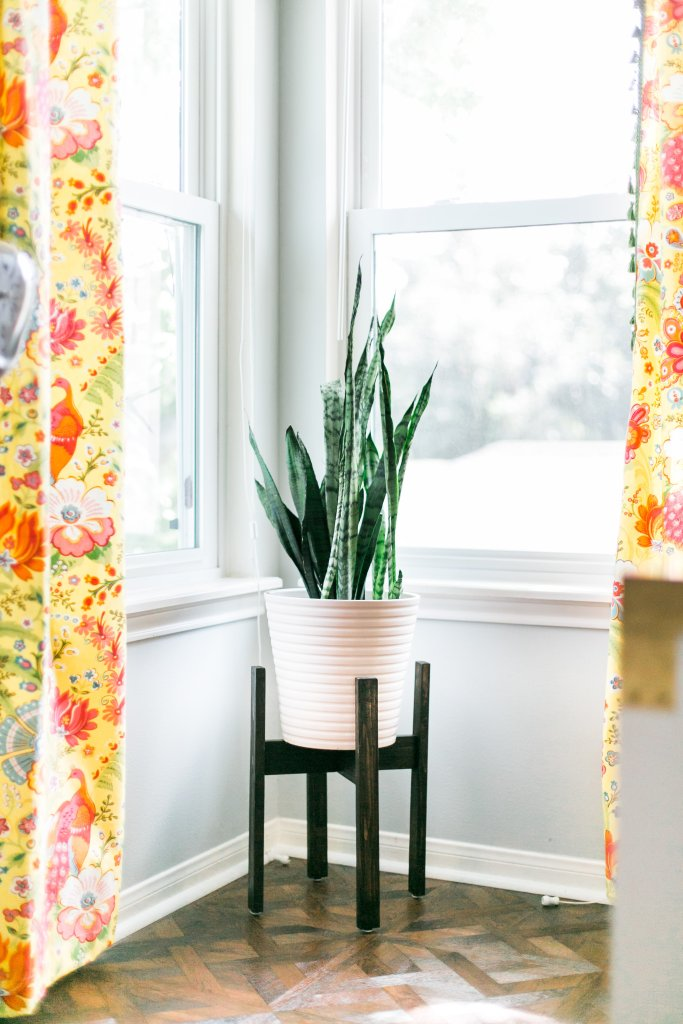 DIY Plant Stand West Elm Inspired Easy Curtain Tutorial with Tassel Trim Allure Chateau Parquet Resilient Flooring