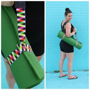 Sewing a Yoga Mat Carrying Strap with Leather Shoulder Pad