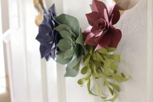 Fall Paper Succulent Wreath