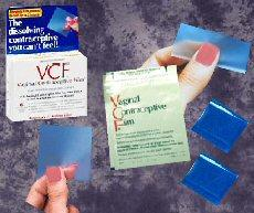 Gambar spermisida bentuk film/tissue