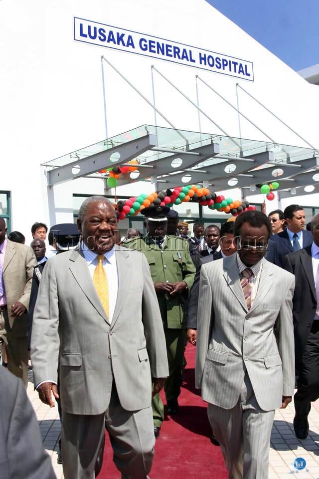 President Rupiah Banda and Vice President George Kunda at the Opening of Lusaka General Hospital