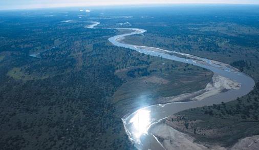 Meandering Luangwa River