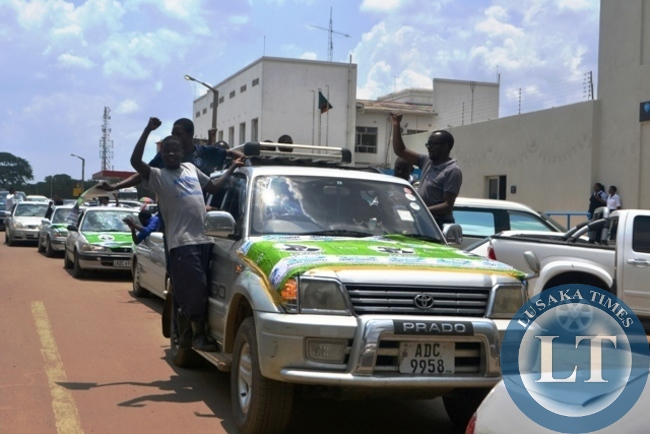 PATRIOTIC FRONT (PF) in Kitwe district show solidarity for Edgar Lungu