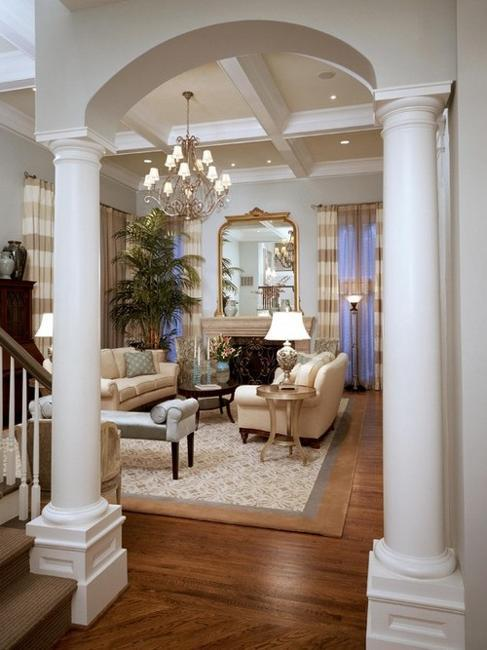 35 Modern Interior Design Ideas Incorporating Columns into Spacious     Modern interior design with columns and pillars