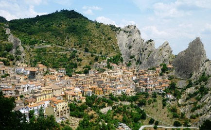 Angel Flight and Culinary Fancies at Castelmezzano Dolomites Italy Cover