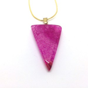 Woman's Pink Agate Pendant