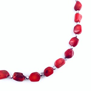 Red Coral & Crystal jewellery