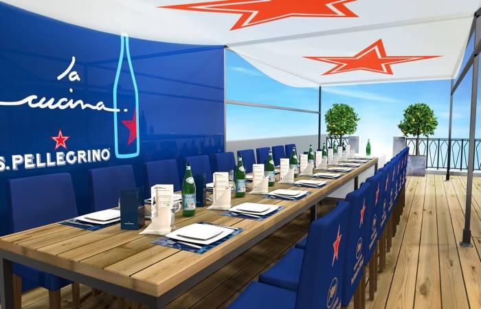 La table d'hôtes éphémère de San Pellegrino au Festival de Cannes 2015