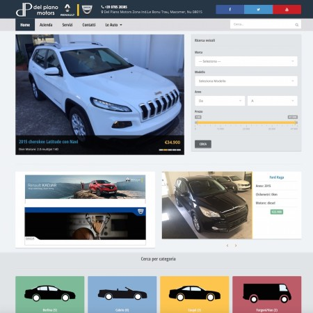 Del Piano Motors - Website - by Lycnos